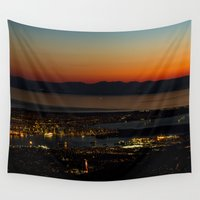 vancouver Wall Tapestries featuring Vancouver at Sunset by Will Parker Photography