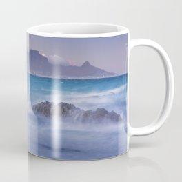 Sunrise over the Table Mountain and Cape Town from Blouwbergstrand Coffee Mug