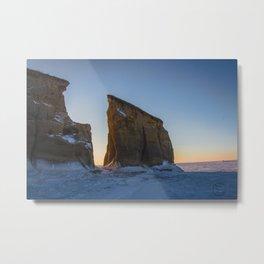 Winter, Lake Sakakawea, North Dakota Metal Print