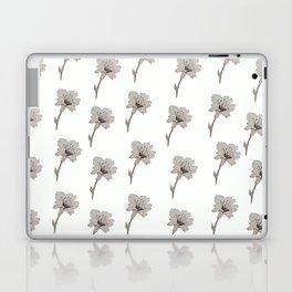 Flowers in white Laptop & iPad Skin