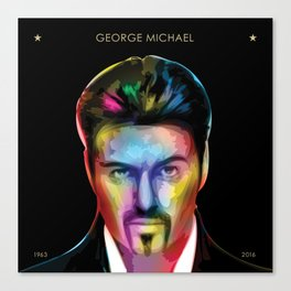 George 'Careless Whisper' Michael Tribute Canvas Print