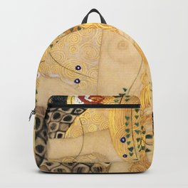 Water Serpents - Gustav Klimt Backpack