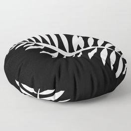 PALM LEAF WHITE LEAF Floor Pillow