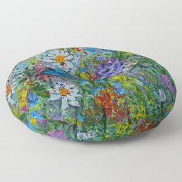Nature's Garden Floor Pillow