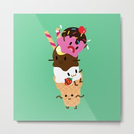 Neapolitan Ice Cream Metal Print