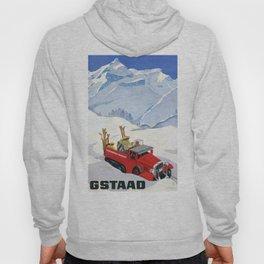 1934 Switzerland Gstaad Travel Poster Hoody