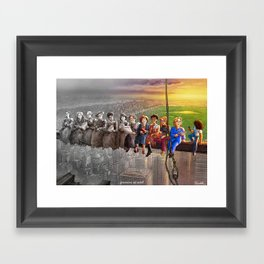 Feminism At Work Framed Art Print