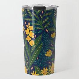 Golden flowers Travel Mug