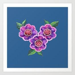 Purple Flowers I Art Print