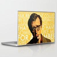 woody allen Laptop & iPad Skins featuring Woody Allen - Annie Hall I by FCRUZ