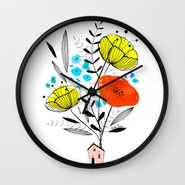 Blooming house Wall Clock
