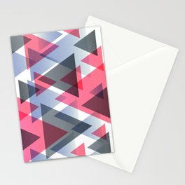 GRADIENT TRIANGLE SALAD Stationery Cards