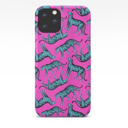 Tigers (Magenta and Blue) iPhone Case