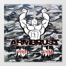 Camouflage ArmBrust Pro-gym  Canvas Print