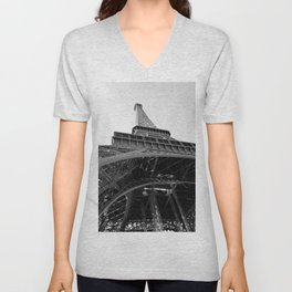 Upon the Eiffel Tower Unisex V-Neck