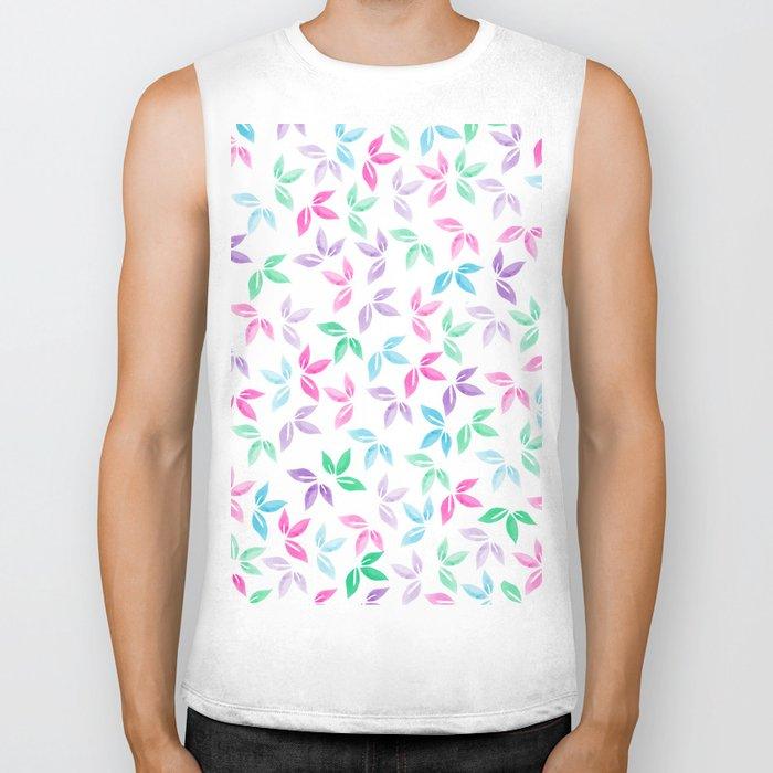 Flower Pattern VII Biker Tank