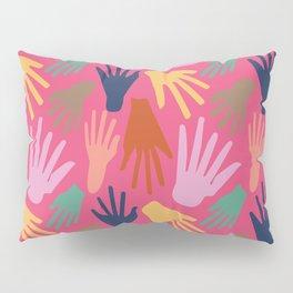 Minimalist Hands in Coral Pillow Sham