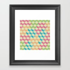 Sugar Cubes Geometric Pattern Framed Art Print