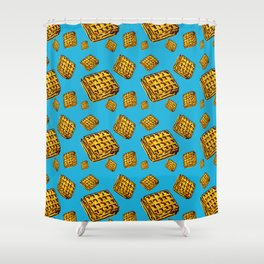 Waffle morning Shower Curtain