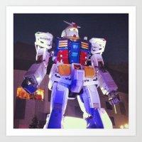 gundam Art Prints featuring Gundam by CDina Photography