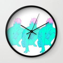 a lumpy man Wall Clock