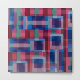 Abstraction rouge et bleue Metal Print