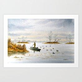 Duck Hunting - The Island Duck Blind Art Print