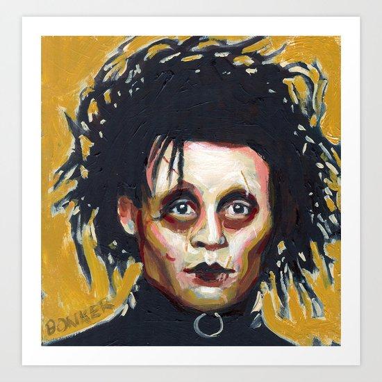 Edward Scissorhands - Johnny Depp Art Print