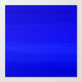Solid Cobalt Blue - Brush Texture Canvas Print
