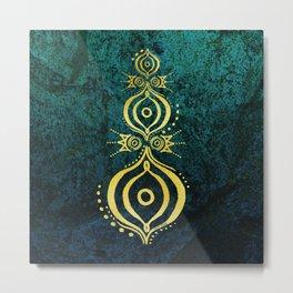 Oriental Wisdom Metal Print