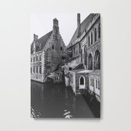 ONCE UPON A TIME (graphite) / Bruges, Belgium Metal Print