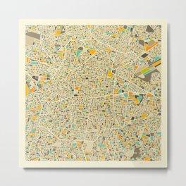 Mexico City Map Metal Print