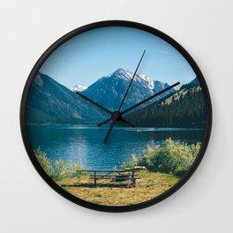 Picnic at Wallowa Lake, Oregon Wall Clock