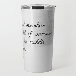 Thoreau Quote Winter Travel Mug