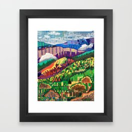 Fog in the Mountains Framed Art Print