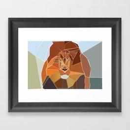 Crystal Lion Framed Art Print
