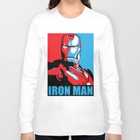 iron man Long Sleeve T-shirts featuring Iron Man by C.Rhodes Design