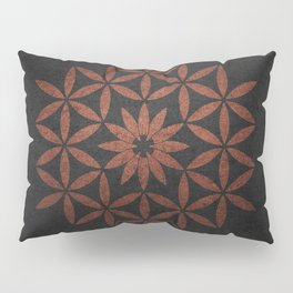 The Flower of Life - Ancient copper Pillow Sham