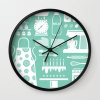baking Wall Clocks featuring Baking Graphic by Modart Design