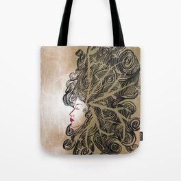 Enlightenment - Acrylic and Ink paint Tote Bag