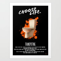 trainspotting Art Prints featuring Trainspotting by Vloh