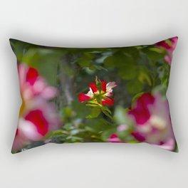 Red Tea Rose Rectangular Pillow