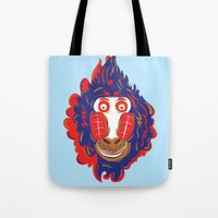 gorilla Tote Bags featuring Gorilla by echo3005