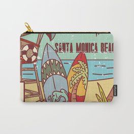 The Best Surfing – Santa Monica Beach Carry-All Pouch