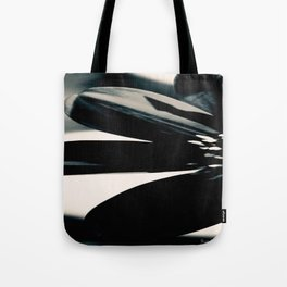 Abstract Floral Black & White Tote Bag