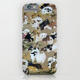 Ito Jakuchu - Hundred Dogs - Digital Remastered Edition iPhone Case