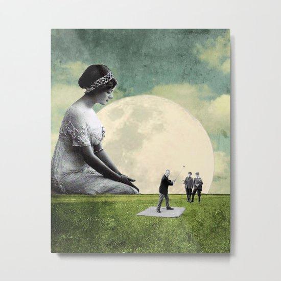 Stellar Moon Metal Print