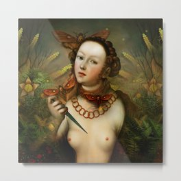 """Myth Lucretia Death Moths"" Metal Print"