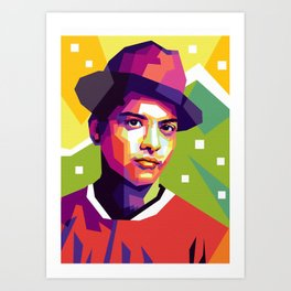brunomars in pop art Art Print