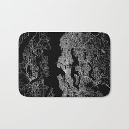 Seattle map Bath Mat